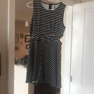 Black and white dress with cut outs